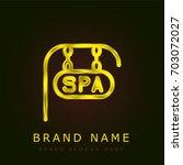 spa golden metallic logo