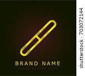 nail file golden metallic logo