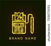 pay golden metallic logo