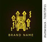 genetics golden metallic logo