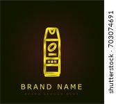 insecticide golden metallic logo