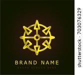 mine golden metallic logo