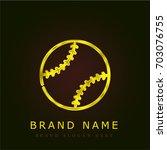 ball golden metallic logo