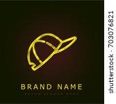 cap golden metallic logo