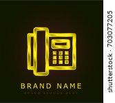 telephone golden metallic logo