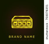 network golden metallic logo