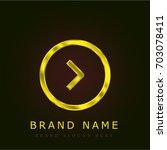 right golden metallic logo