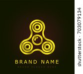 spinner golden metallic logo