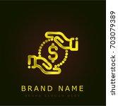 coin golden metallic logo