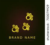 track golden metallic logo