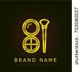 make up golden metallic logo