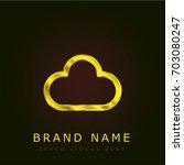 cloud golden metallic logo