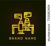 meeting golden metallic logo