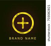 more golden metallic logo