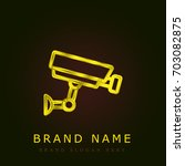 cctv golden metallic logo