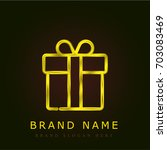 gift golden metallic logo