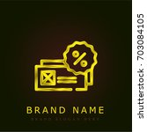 voucher golden metallic logo