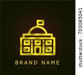 government golden metallic logo   Shutterstock .eps vector #703085041