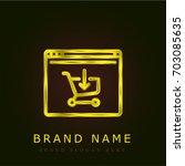 online shopping golden metallic ...