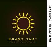 sun golden metallic logo