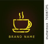 coffee golden metallic logo
