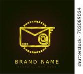 email golden metallic logo