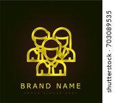 team golden metallic logo