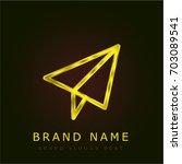 send golden metallic logo