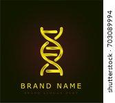 dna golden metallic logo