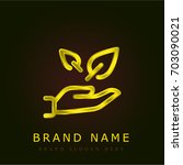 sprout golden metallic logo