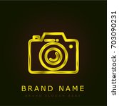 photograph golden metallic logo