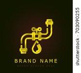 plumbing golden metallic logo