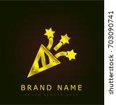firecracker golden metallic logo
