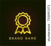 medal golden metallic logo