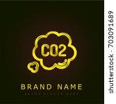 co2 golden metallic logo