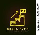 goal golden metallic logo