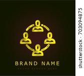 teamwork golden metallic logo