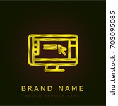 monitor golden metallic logo