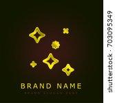 stars golden metallic logo