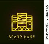 trifold golden metallic logo