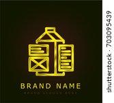 tags golden metallic logo