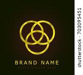 rgb golden metallic logo