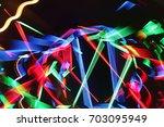 led lights in pub | Shutterstock . vector #703095949