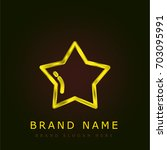 star golden metallic logo