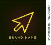 pointer golden metallic logo