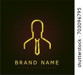 user golden metallic logo