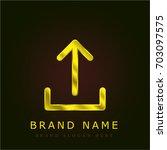 upload golden metallic logo