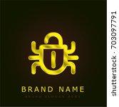 bug golden metallic logo