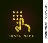 dial golden metallic logo