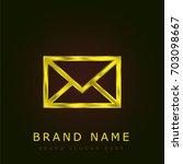 e mail envelope golden metallic ...
